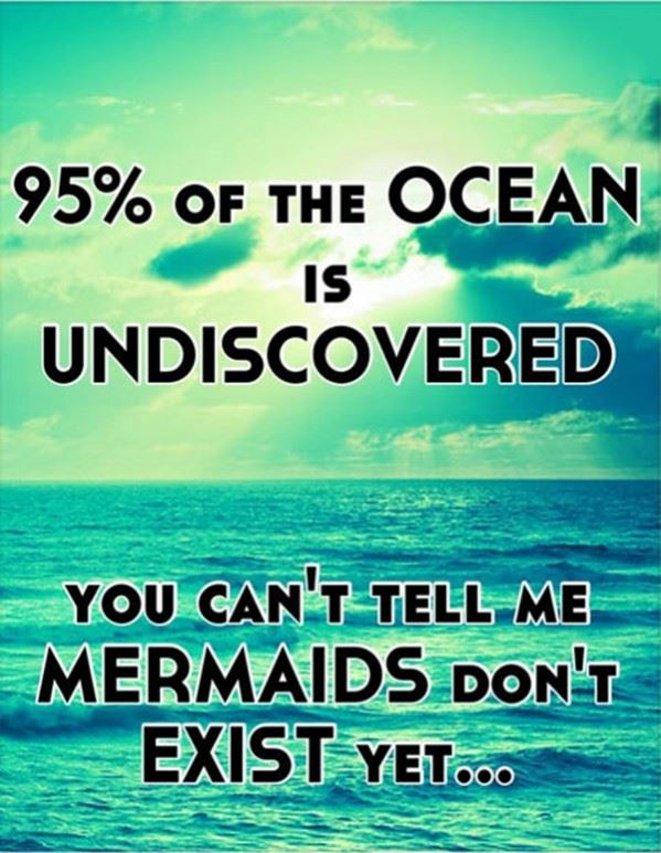 The ocean is undiscovered