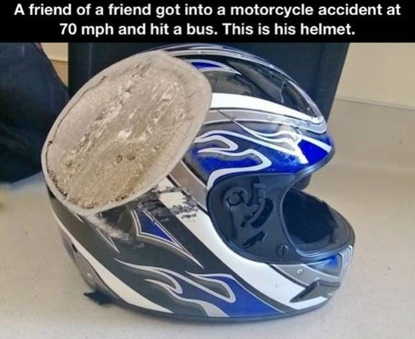 Why you wear a helmet