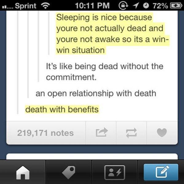 Sleeping Is Nice