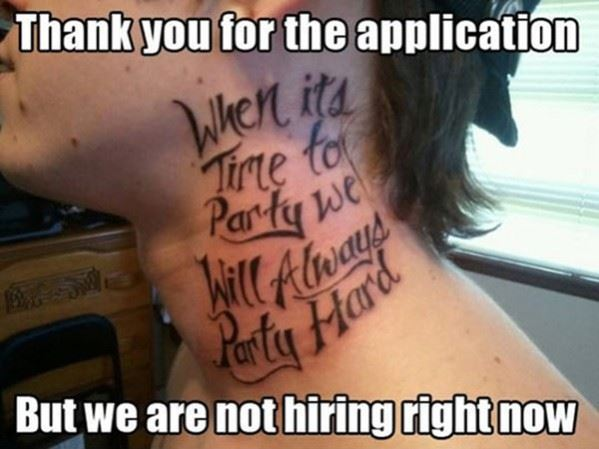 Thanks for your application…