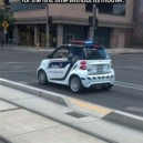 The young police car