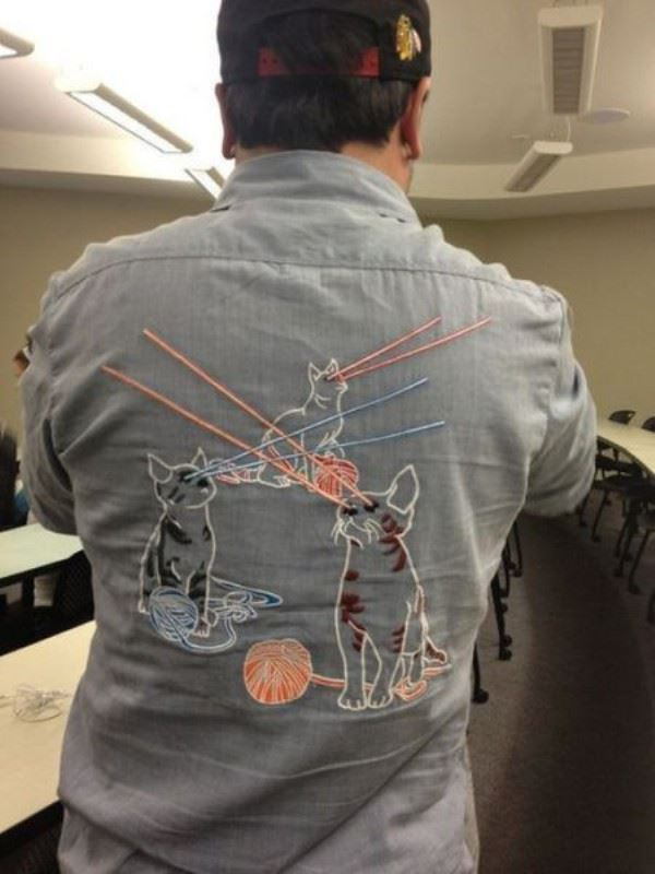Amazing lazer cat shirt