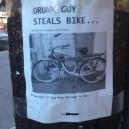 Drunk guy steals bike
