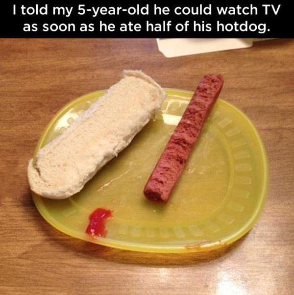 Half A Hotdog