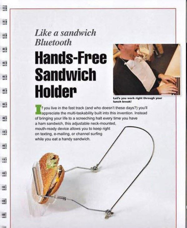 Hands free sandwich holder