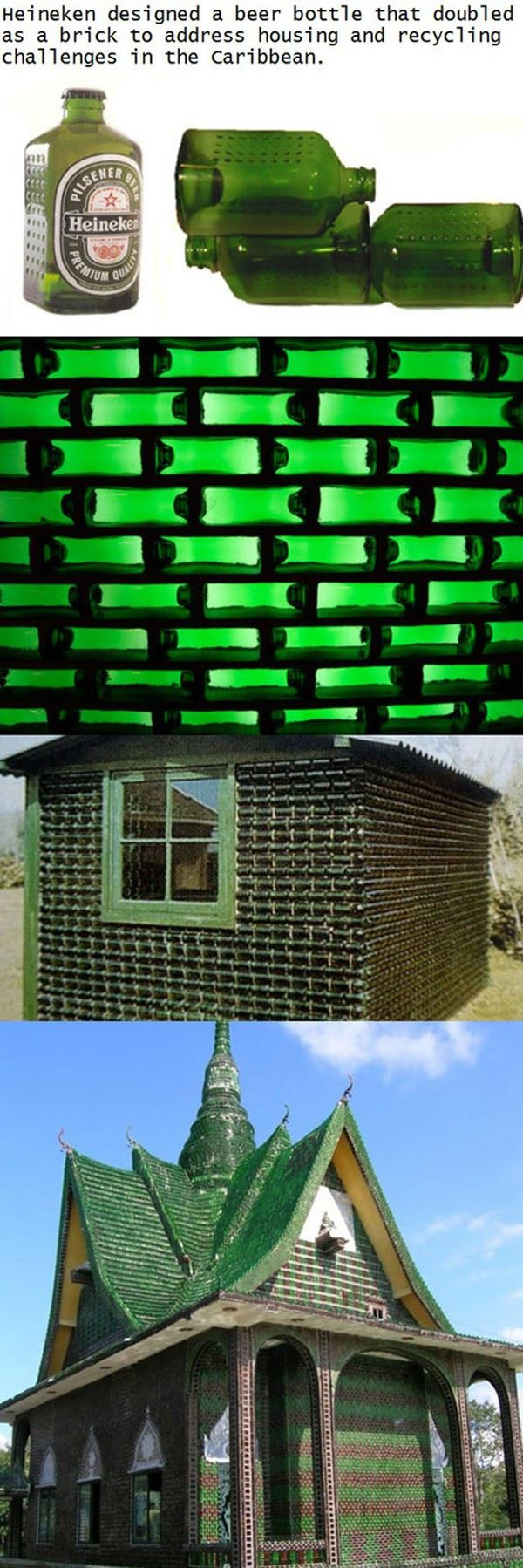 Heineken brick bottles