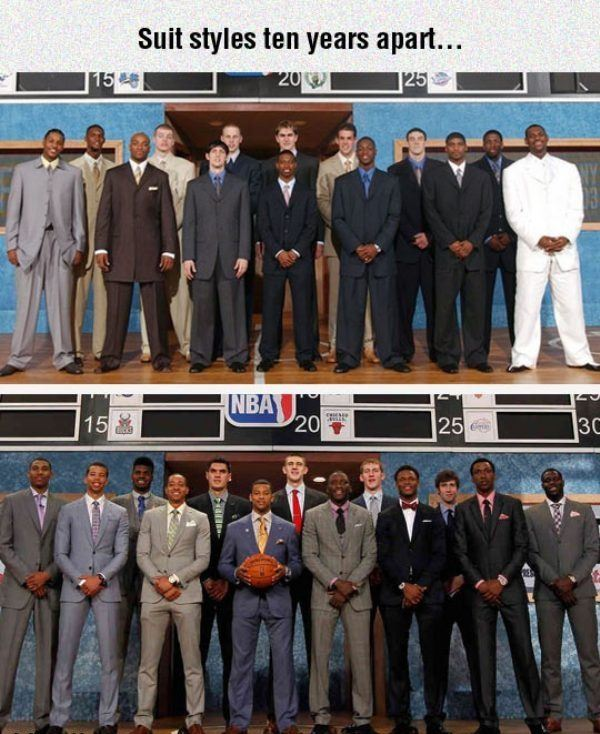 Suit Styles 10 Years Apart