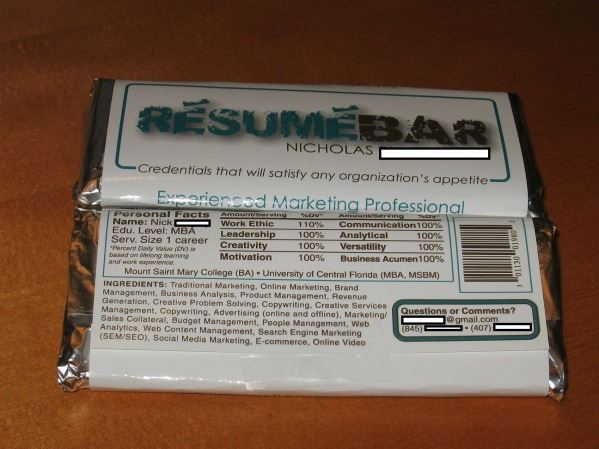 Resume Bar