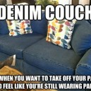 Denim Couch