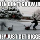 Men don't grow up