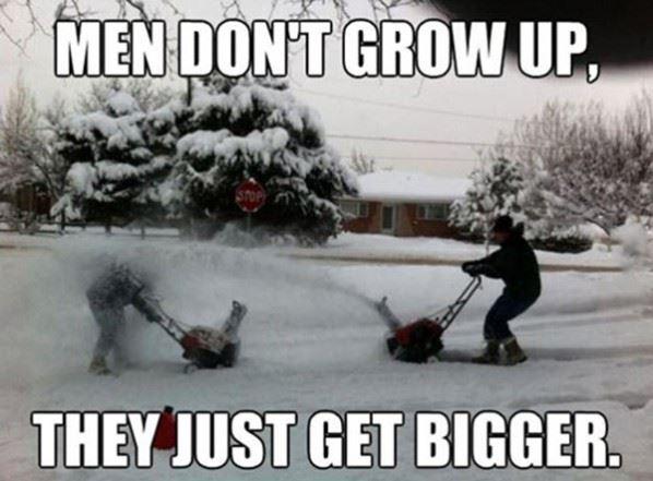 Men don't grow up