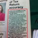 Tax return accuracy
