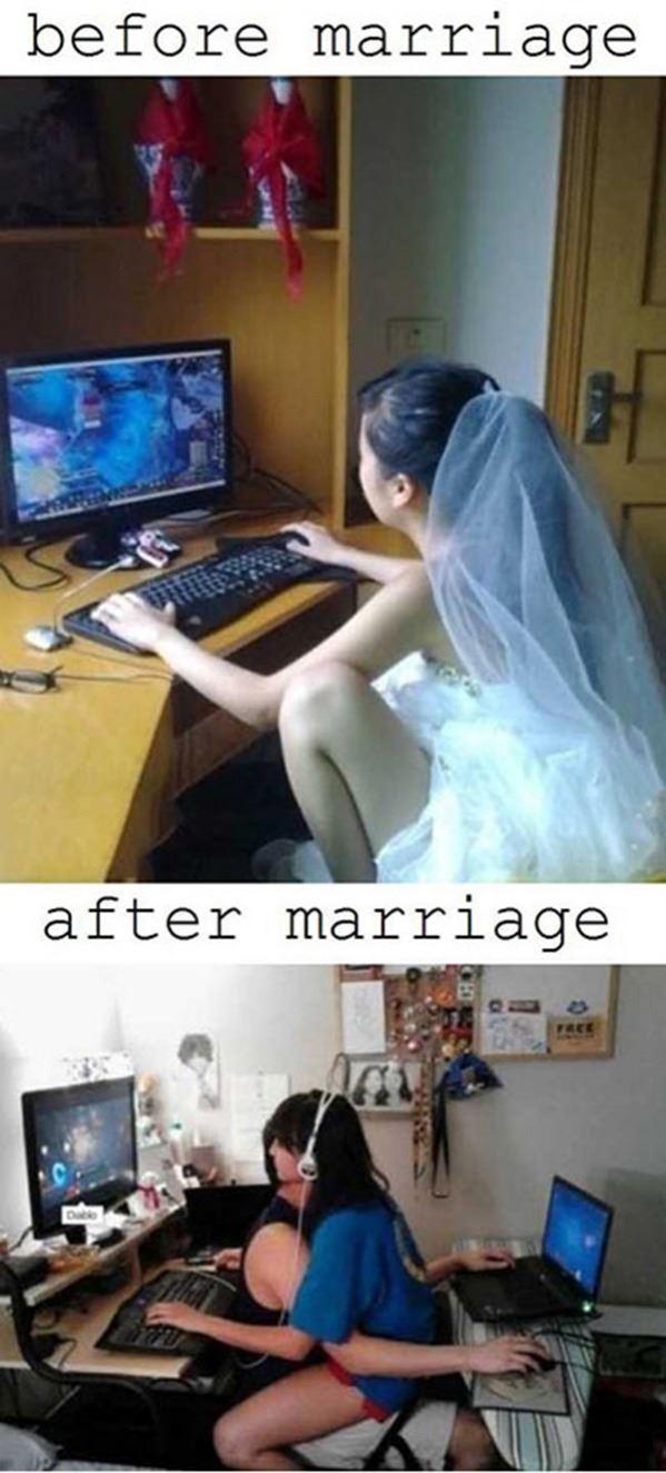Girl gamer gets married