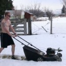 Just mowing the lawn