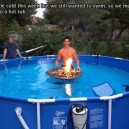 The pool hot tub
