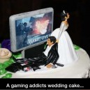 A gamer's wedding cake…