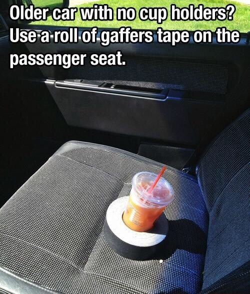 For cars with no cup holder