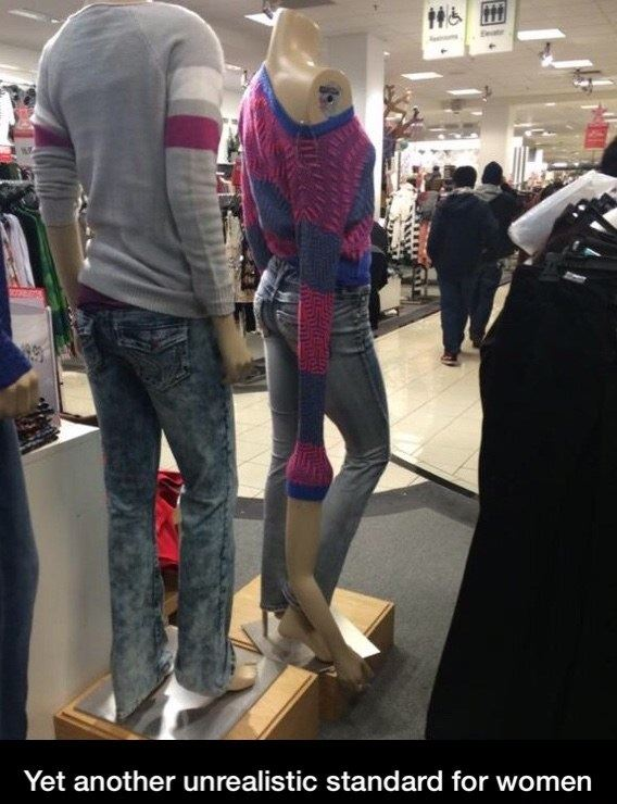 I'm sick of these unrealistic standards