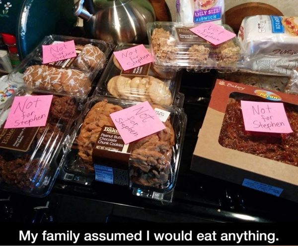 My family assumed I would eat anything