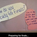 Preparing for finals…