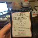Texting dictionary