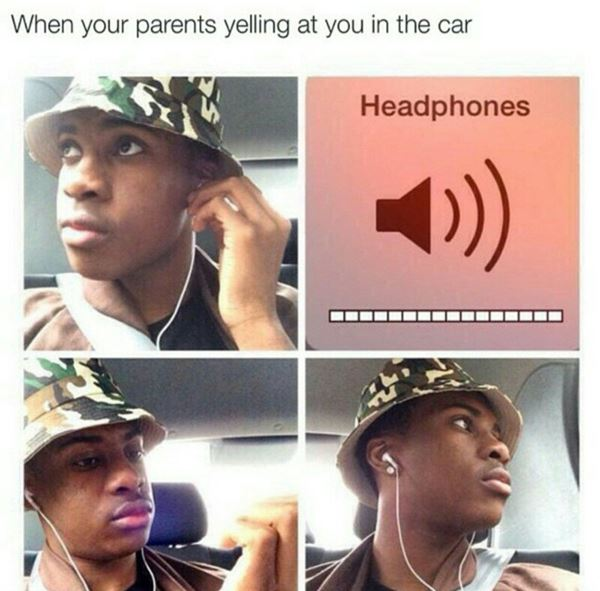When your parents yell