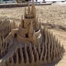 Creepy sand castle