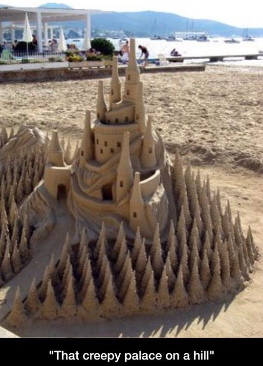 Creepy sand castle