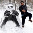 Gangnam style snowman