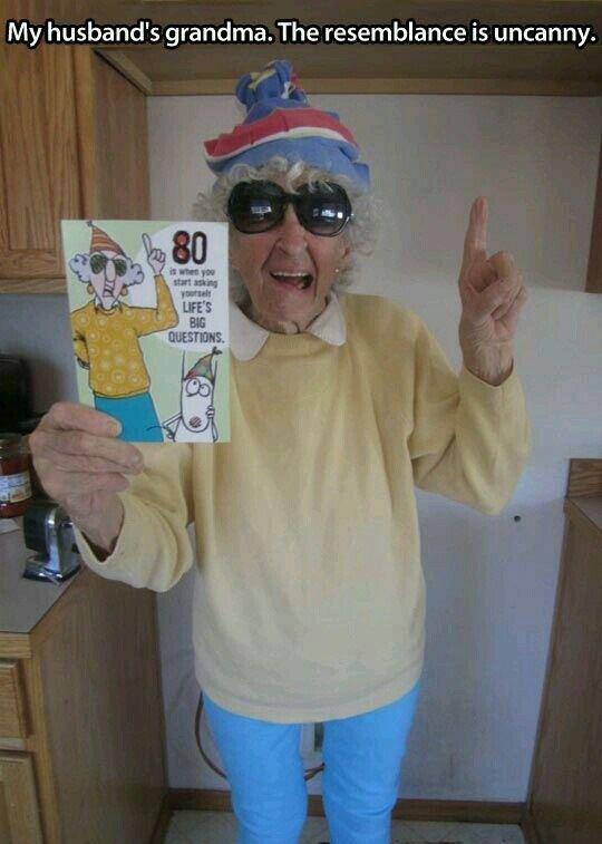 Grandma's on a card!