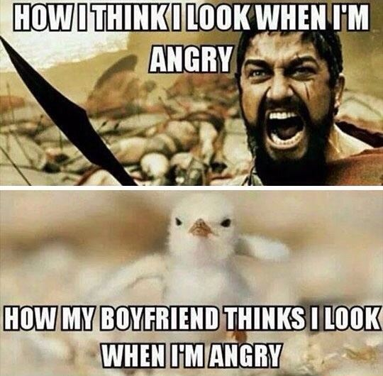 How I look when I'm angry