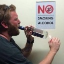 No smoking alcohol, please!