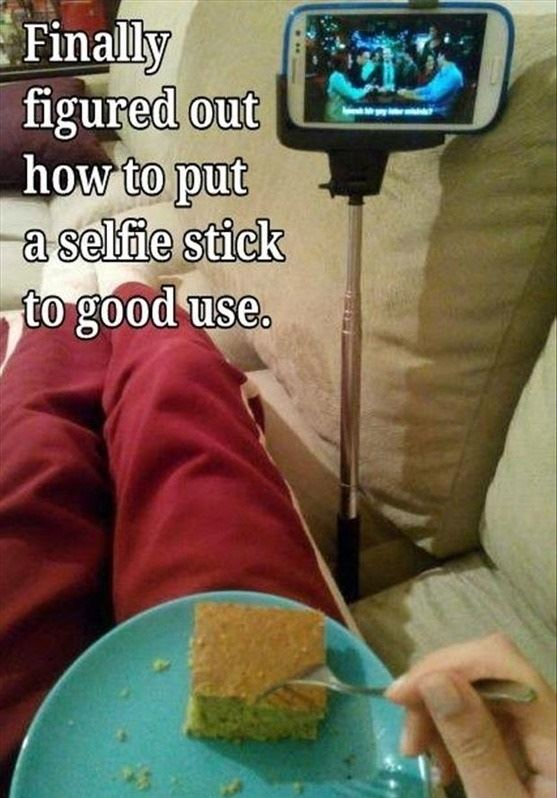 Only good use for a selfie stick!