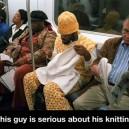 Serious knitting!