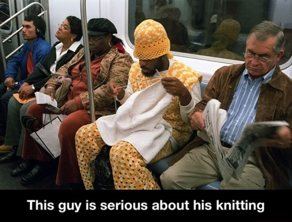 Serious knitting!