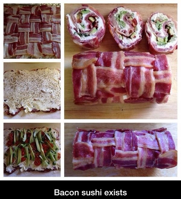 Bacon sushi exists!