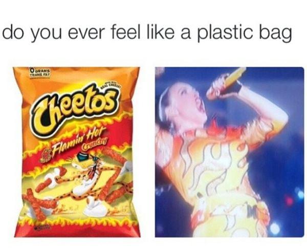 Feeling like a plastic bag