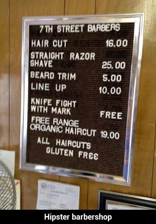 Hipster barbershop