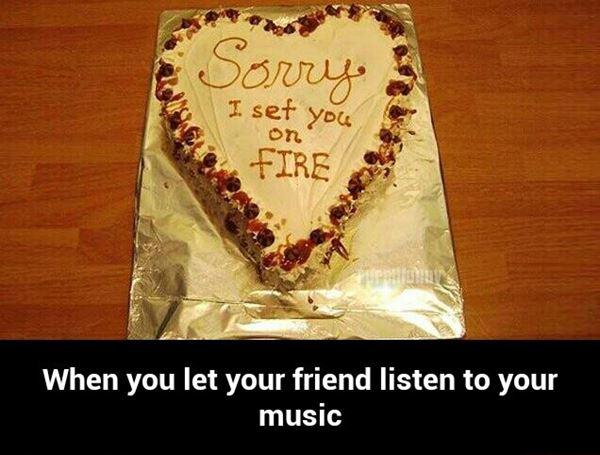 I'm Sorry cake