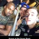 Kanye at the Super Bowl