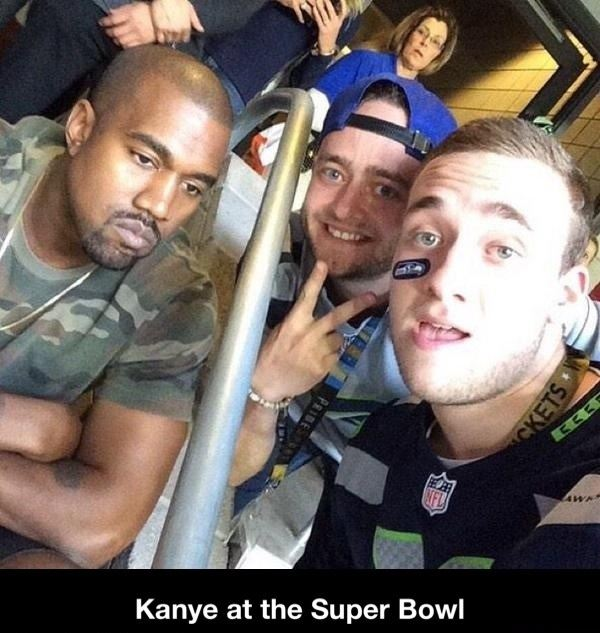 Kanye at the Super Bowl