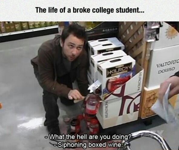 The life of a broke college student