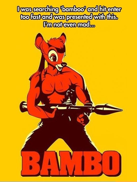 Bamboo as Rambo equals Bambo!