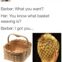 Basket weaving haircut