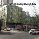 Camouflage building