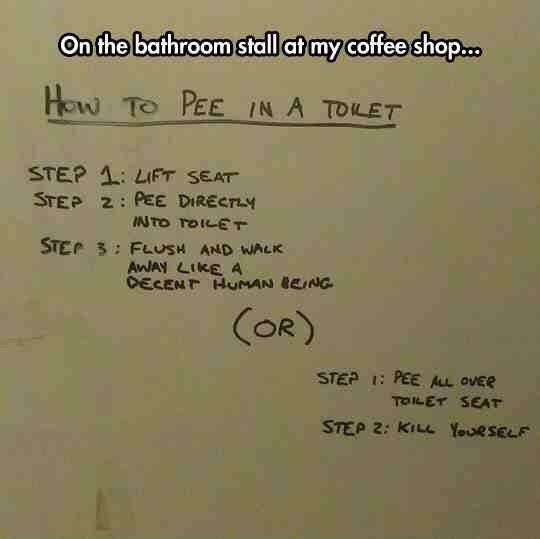 How to pee