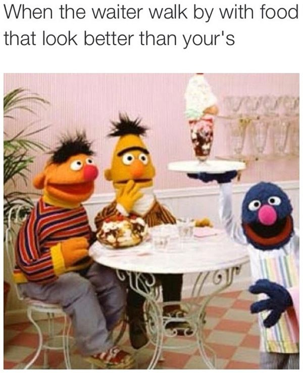Look at that food