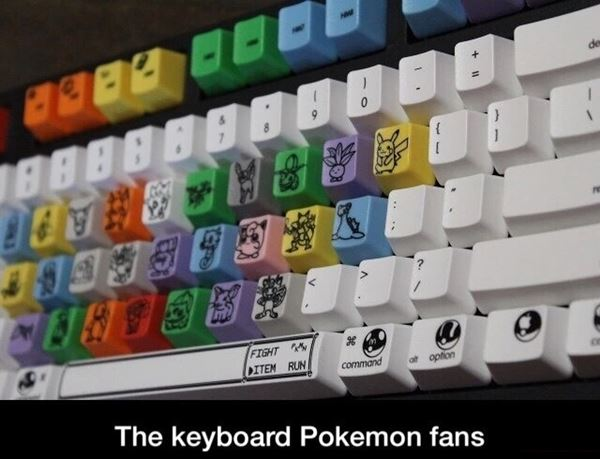 Pokemon keyboard