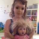 Creepy face swap