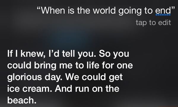 Siri wants ice cream